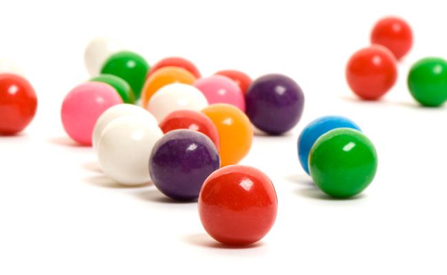 Multi-colored gumballs